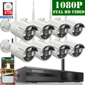 Security Camera System Wireless, 8CH 1080P NVR Kit, 8pcs 1080P(2.0M) Outdoor CCTV Wireless IP Camera Video Surveillance byOOSSXX - DISCOUNT ITEM  49% OFF All Category