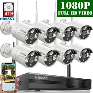 Image 1 - Système de caméra de sécurité sans fil, 8CH 1080P NVR Kit , 8 pièces 1080P(2.0M) extérieur CCTV sans fil IP67 caméra de Surveillance vidéo