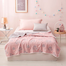 Summer Blanket for Bed Sofa Couch Summer Air-conditioning Quilt Thin Comforter Summer Lightweight Bed Quilt Blanket Kids pug dog pattern filled air conditioner quilt for summer
