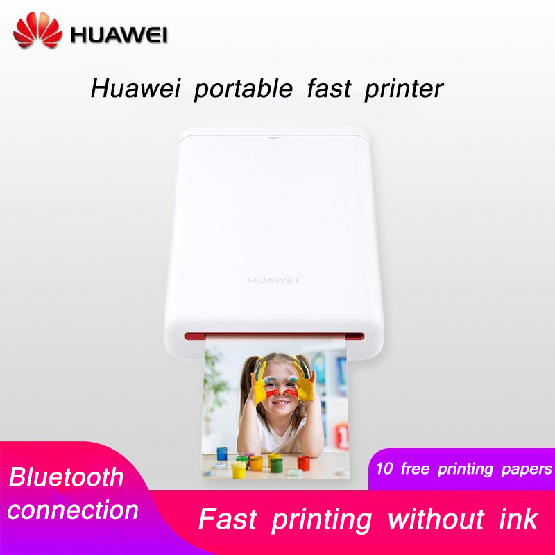HUAWEI CV80 Pocket Mini Printer To Take Portable Travel DIY Photo Printing Paper Portable 1 Minute Fast Without Ink Printer