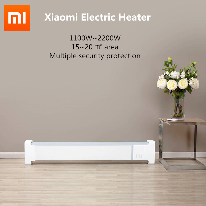 XIAOMI  Electric Heater 2200W Fast Heaters For Home Room Fast Convector Skirting Line Warmer Remote Control From XiaoniYoupin