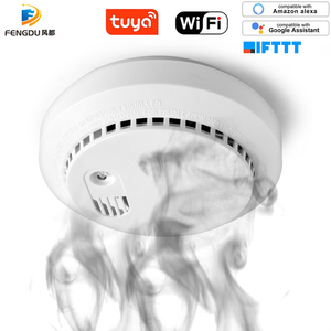 Детектор дыма Wi-Fi CO/smooth, система сигнализации, детектор умного дома, поддержка Wi-Fi, приложение Tuya