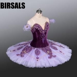Image 2 - Kadın klasik kostüm Tutu bale dans profesyonel bale Tutu kostümleri tabağı rekabet bale Tutu mor BT9085