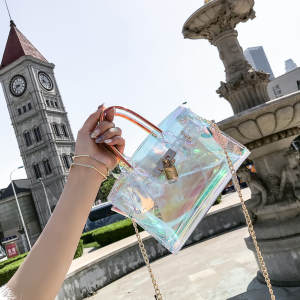 Transparent Handbag Shoulder-Bag Laser-Messenger-Bags Jelly Holographic Women Ladies