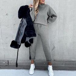 Spring Women's Sports Suit Tracksuit Sweatshirt+Pants two piece set women Sportswear Casual Long Sleeve Sweatshirt Pants sets