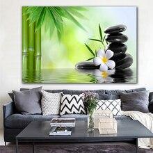 Современные картины на холсте Zen Giclee, идеальные бамбуковые зеленые картины на холсте, картина на стену, искусство для фотографий, без рамки