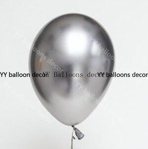 """Image 3 - 84 sztuk/zestaw zestaw balonowy Garland Arch 5 """" 18"""" Sliver biały niebieski balony na urodziny prysznice dla dzieci przyjęcie weselne dekoracje"""