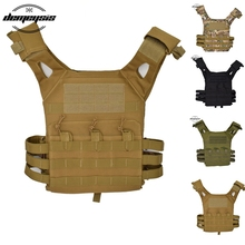 Tactical Paintball Vest Outdoor Airsoft Molle CS War Game Protective Modular Vest