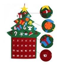Милый войлочный подвесной тканевый календарь на рождественскую елку с карманами для рождественских украшений Детские игрушки подарок