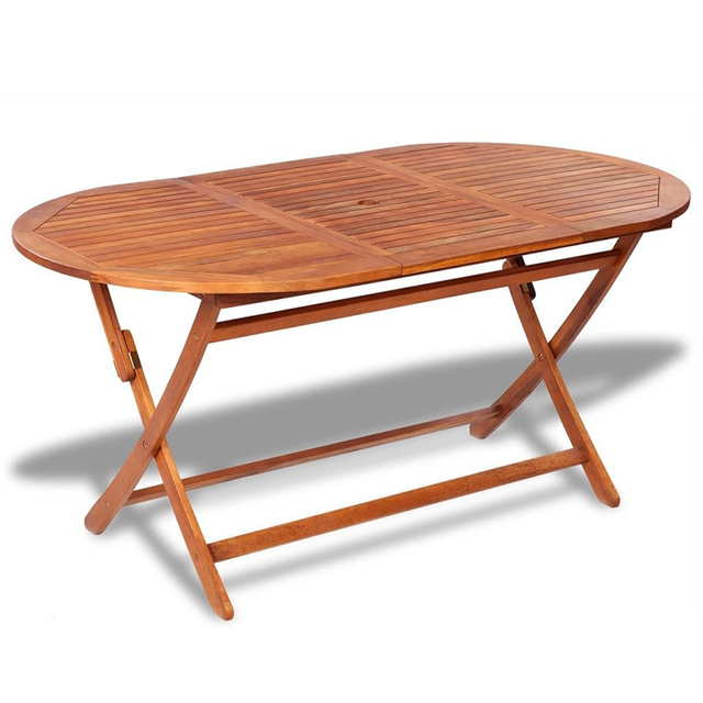 Outdoor Wooden Folding Portable Dining Table  5