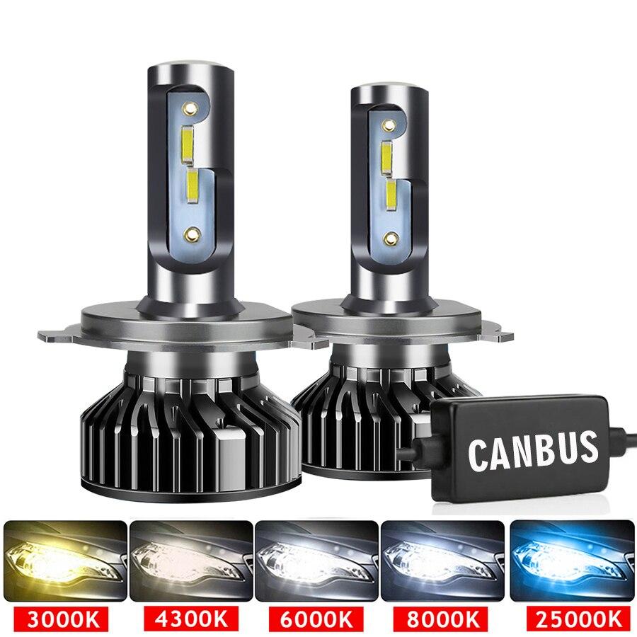 Автомобильные фары CSP 110 лм 9005 Вт H4 светодиодный H7 Canbus H1 H3 H8 H11 9006 3000 6000K автомобильные фасветодиодный ные фары для автомобиля