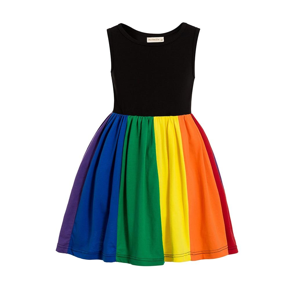 Rainbow Birthday Party Dress Jojo Siwa Tutu Dress Birthday Rainbow dress Girls rainbow twirl dress Party dress twirly dress 5