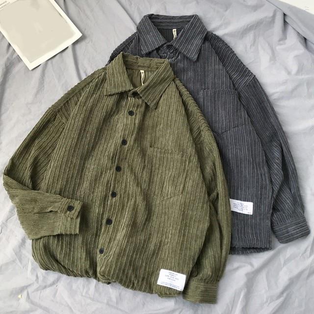 Corduroy Long Sleeve Casual Shirt 3