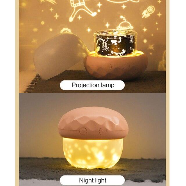 Купить волшебный вращающийся проектор ночник украшение для спальни картинки