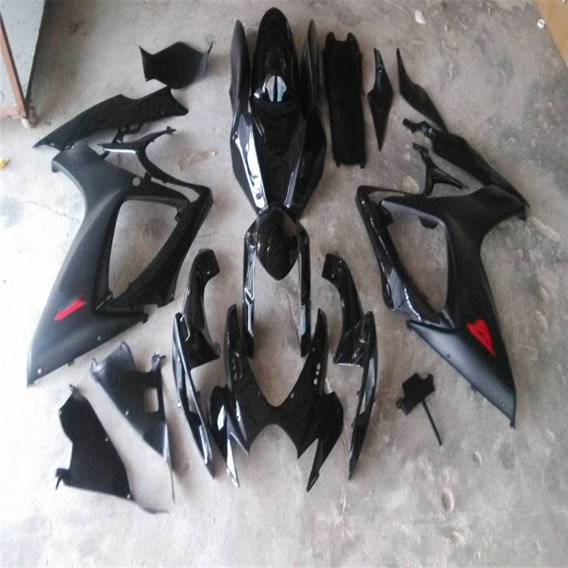 Fit for <font><b>SUZUKI</b></font> black <font><b>GSXR</b></font> <font><b>600</b></font> 750 <font><b>fairing</b></font> <font><b>kit</b></font> K6 2006 2007 GSX-R600 GSX-R750 06 -07 black custom <font><b>fairings</b></font> set image