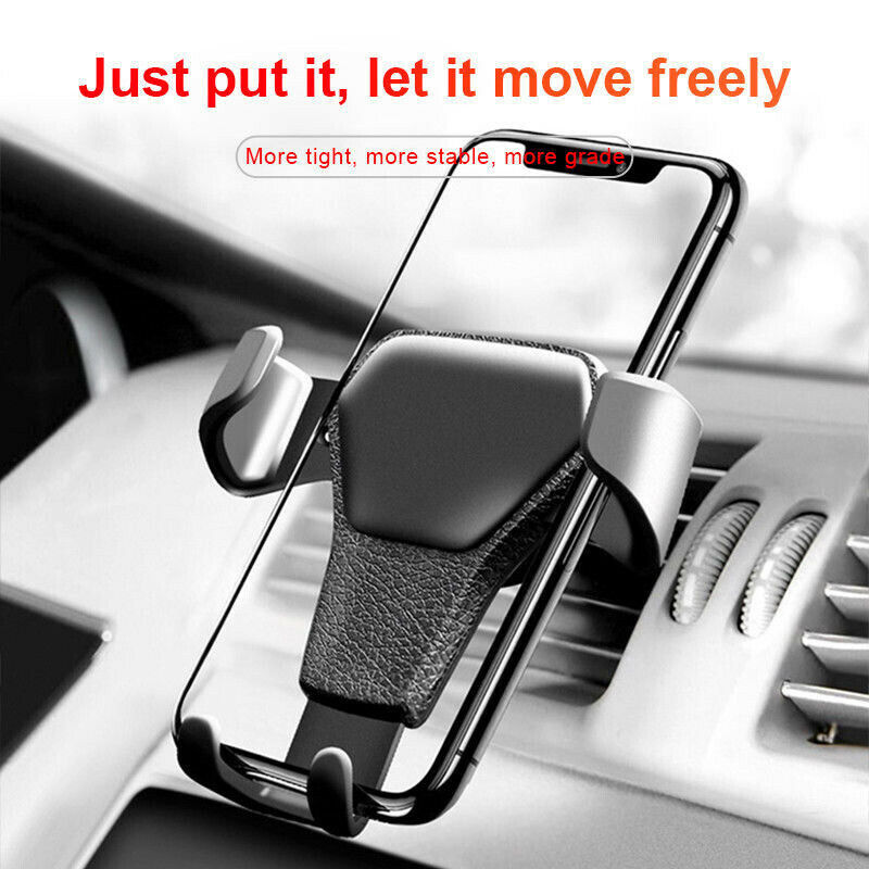 One Hand Operate Gravity Phone Holder Car GPS Accessories 4-6inch Screen Tabelts PC ABS+PC Strong Air Vent Mount Stand