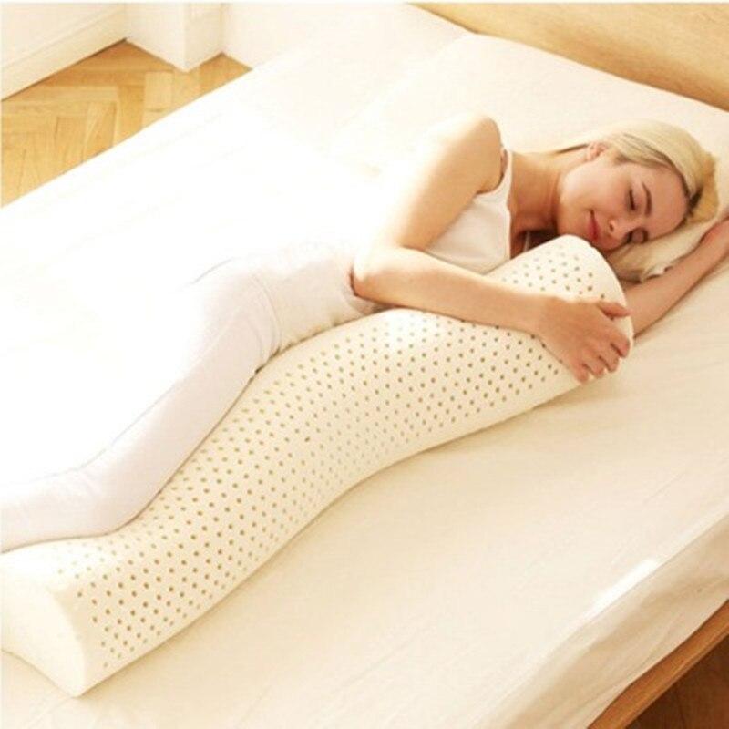 Super Soft Thai Latex Cylindrical Long Pillow Pregnant Women Sleeping Support Pillow Clip Leg Pillow Pregnancy Side Sleepers