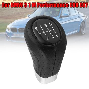 5/6 Speed Manual Gear Shift Knob Shifter Lever For BMW 3 1 M Performance E90 E87 Durable Practical ABS Leather Gear Shift Knob image