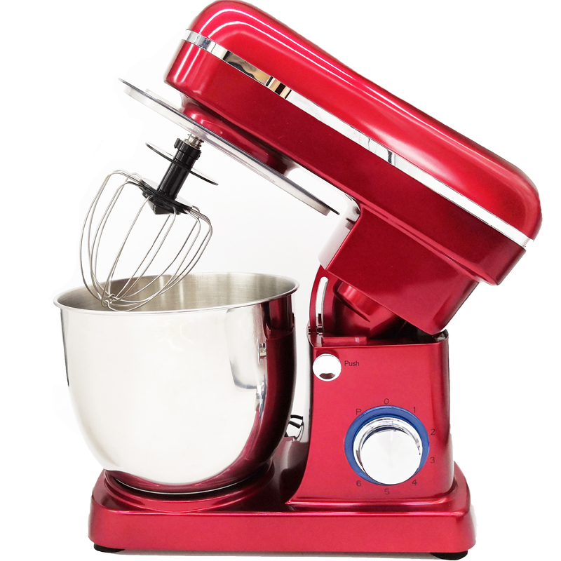 Red Electric Mixer Hand Held Whisk Knead Dough Cake Baking Kitchen Blender Mix