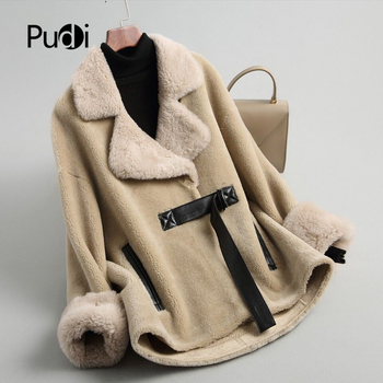 Aorice A18198 women's winter real wool  fur coat warm jacket coat lady Long coat jacket over size parka цена 2017