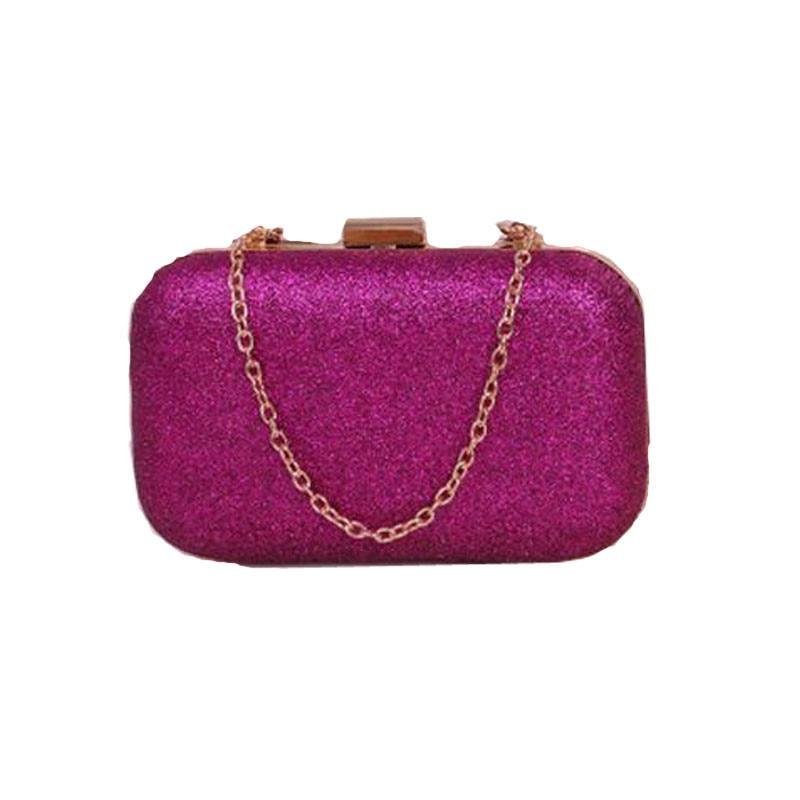 Women Clutch Evening Party Phone Wallet Purse Glitter Chain Hand Bags Wallet US