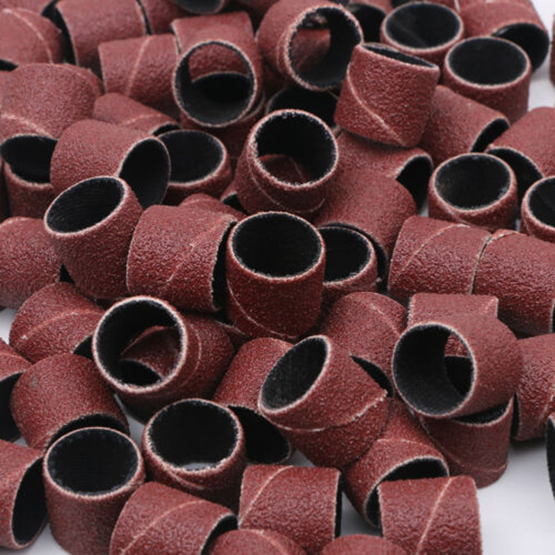 100 Pcs Drum Sanding Sleeves #240 Grit with 2 Pcs Drum Mandrels for Rotary Tools