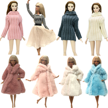 NK Mix Doll Coat High Quality Clothes Fashion Dress Handmade Grows Outfit Flannel Coat For Barbie Doll Accessories DIY Toy  JJ