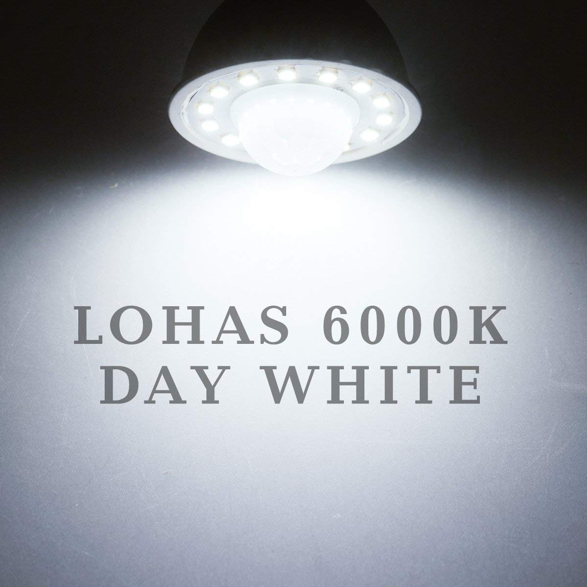 Image 5 - GU10 PIR Motion Sensor LED Light Bulbs 5W,50W Equivalent 500lm Day White 6000K for Stairs Garage Corridor Walkway Hallway 2Pack-in LED Bulbs & Tubes from Lights & Lighting