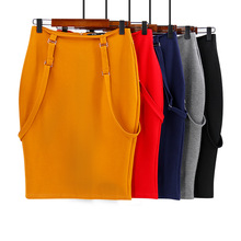 Large size women's bag hip skirt professional skirt elastic high waist bag hip strap skirt women hip bag
