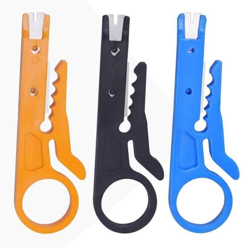 أداة تعرية الأسلاك الصغيرة المحمولة سكين تعرية أداة تعرية كابل تعرية قطع خط جيب متعددة المهام قطع أسلاك أدوات متعددة