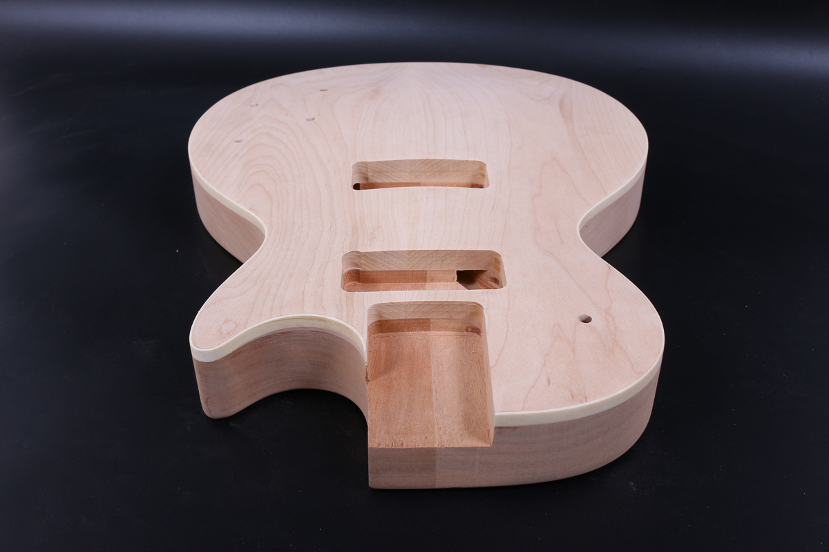 Unfinished Guitar Body DIY Electric Guitar Flame Maple Mahogany Bolt On