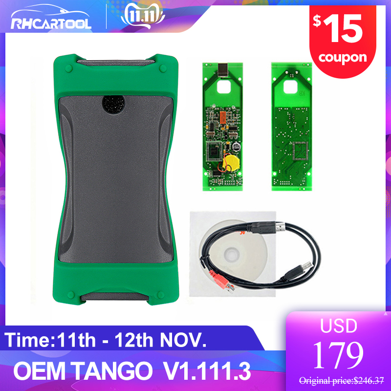OBD2 TANGO OEM Orange 5 OBD II Key Programmer Full Version V1.111.3 Auto Key Transponder Tango OBDII Remote Control Copy Scanner