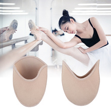 1 Pair SEBS Ballerina Half Yard Forefoot Soft Pointe Toe Pads Insoles Dance Elastic Ballet Relieve Pain Foot Protector Inserts bsaid 1 pair fabric gel cushions forefoot pads metatarsal ball of foot insoles antislip protector relief feet pain half inserts