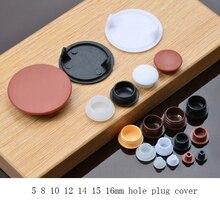 5 8 10 12 14 15 16mm meubels gat plug decoratie cap, Plastic schroef gat cap cover, thuis hout meubels cap kast schroef