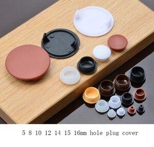 Image 1 - 5 8 10 12 14 15 16mm 가구 구멍 플러그 장식 캡, 플라스틱 나사 구멍 캡 덮개, 가정용 목재 가구 캡 찬장 나사