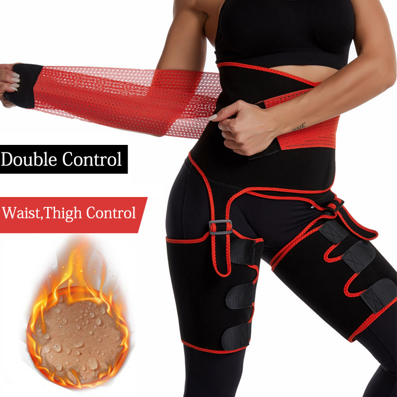 3 in 1 Waist Trainer Shaping Neoprene Thigh Shaper Ultra Light Thigh Trimmer Butt Lifter Shapewear Hips Belt Sweat Body Shaper