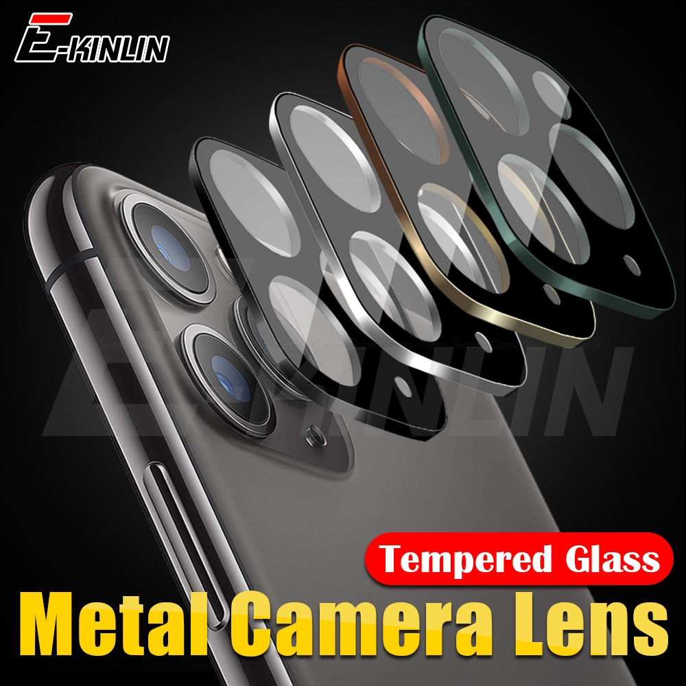 Back Camera Lens Case For IPhone 11 Pro Max Screen Protector Tempered Glass Rear Aluminum Metal Lens Ring Cover Protection Film