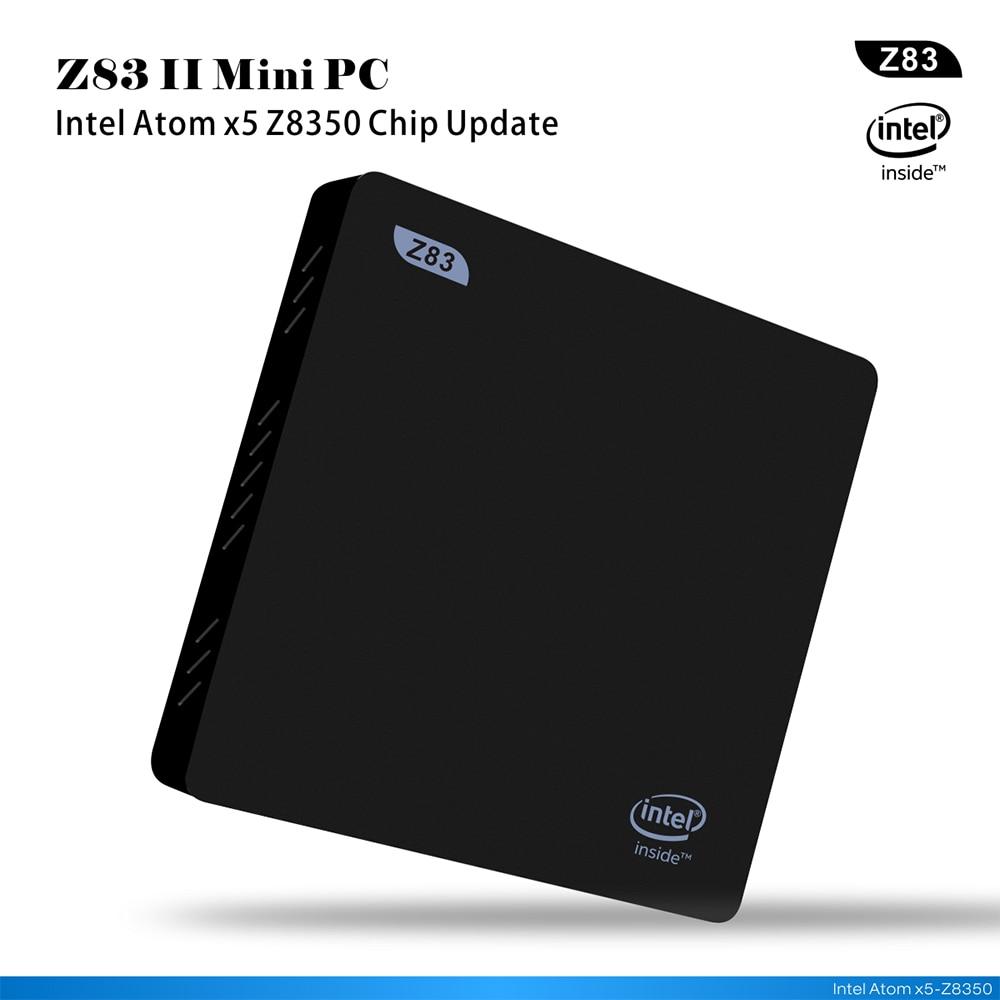 Z83II Quad Core RAM 4G ROM 64G Windows10 Mini desktop Intel Atom x5-Z8350  2.4G/5.8G AC WiFi  1000M lan office mini pc