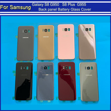 S8 Back Glass For Samsung Galaxy S8 G950 G950F/FD Back panel Battery Glass Cover S8 Plus S8+ G955 G955F Rear Door Housing Case