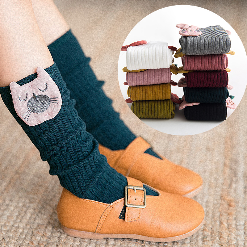 Spring And Autumn Cotton Girls Children Pile Style Socks Baby In Stockings Korean Style Cute GIRL'S Cartoon Princess