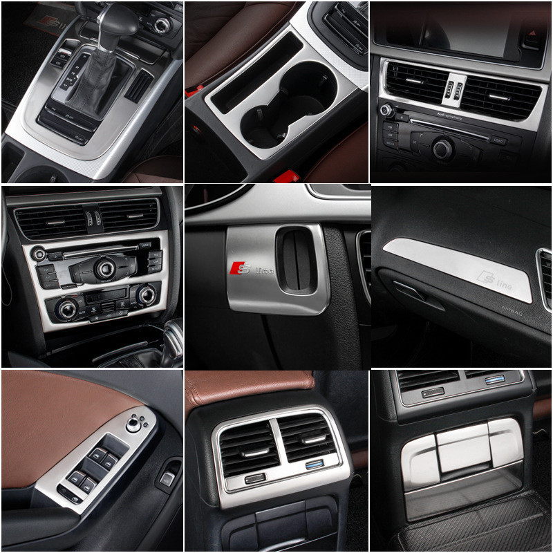 Car Key Hole Panel And Other Interior Stainless Steel Accessories For Audi  A4L A5 2009~2016