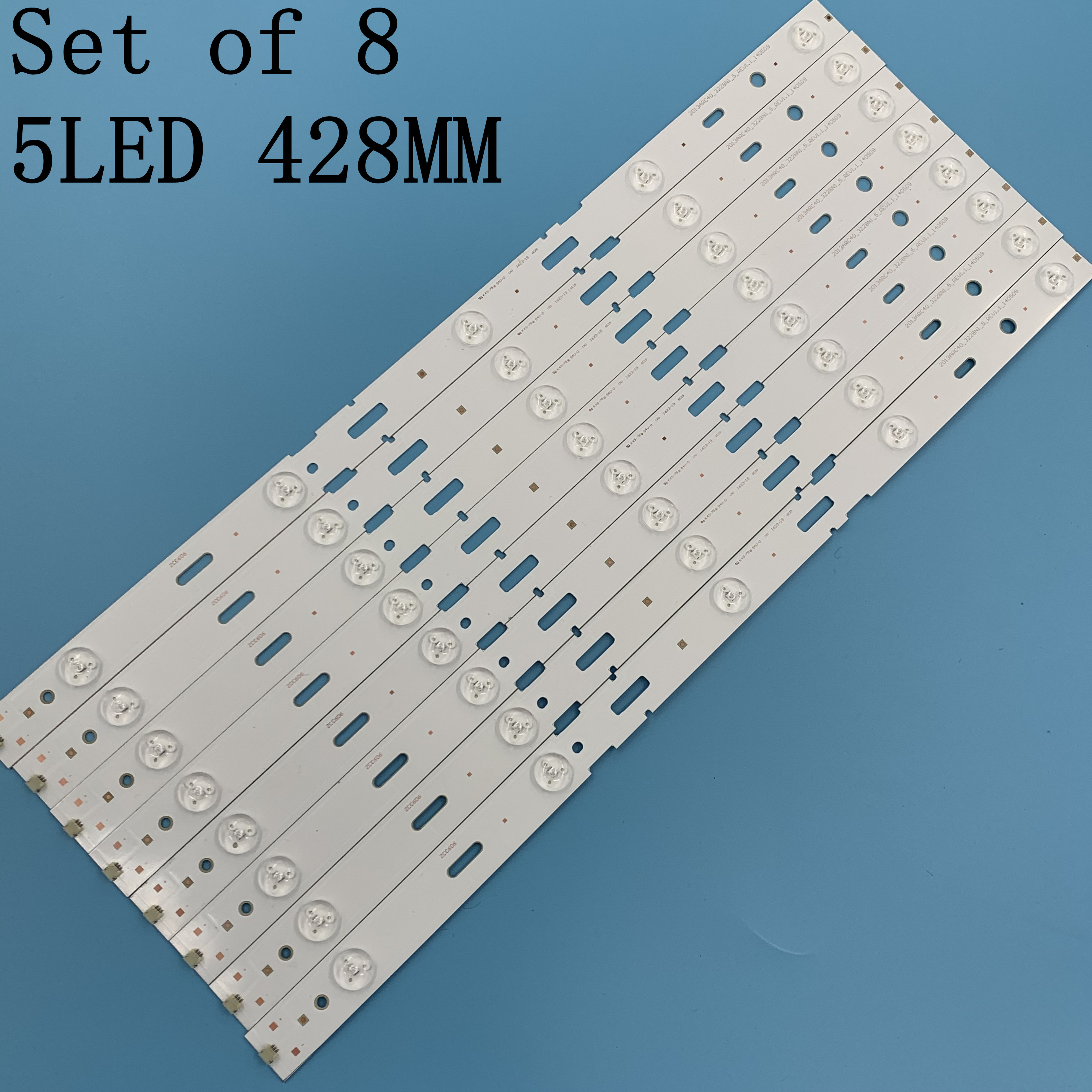 8pcs 428mm LED Backlight strip 5leds For Sam sung 40 inch TV 40-LB-M520 40VLE4421BF SAM SUNG_2013ARC40_3228N1 40VLE6520BL