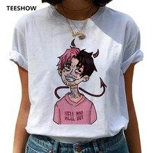 Lil Peep Harajuku Hip Hop T Shirts Women Printed Fashion T-shirt 90s Graphic Women Tshirt
