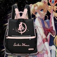 Fashion Hot Anime Sailor Moon Tsukino Usagi Casual Backpack Student Schoolbag Shoulders Bag Travel Bag Cute Girl Daypacks