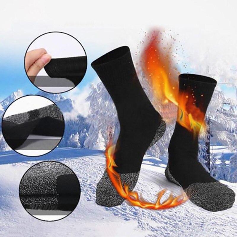 Зимние теплые носки с термостатом 35 градусов, качественные носки из Алюминиевого волокна для активного отдыха, альпинизма, лыж, мягкие носк...