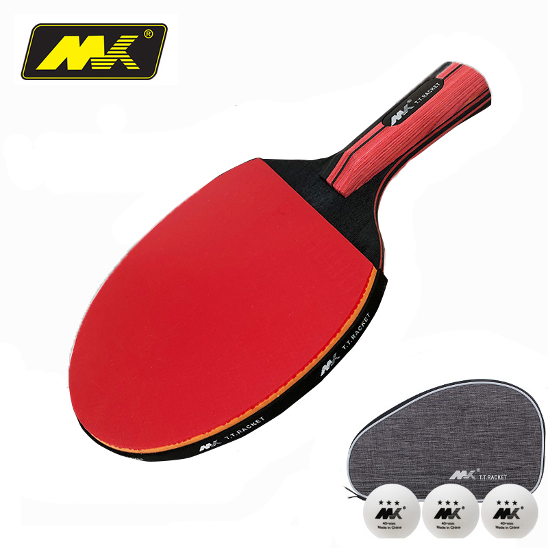 Original 6 Stars Table Tennis Racket Ddouble Pimples-in Rubber Ping Pong Racket Tenis De Mesa Table Tennis With Bag