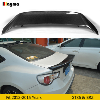 AB style Carbon fiber rear trunk spoiler for Toyota GT86 for Subaru BRZ for Scion 86 2012-2015 rear wing spoiler