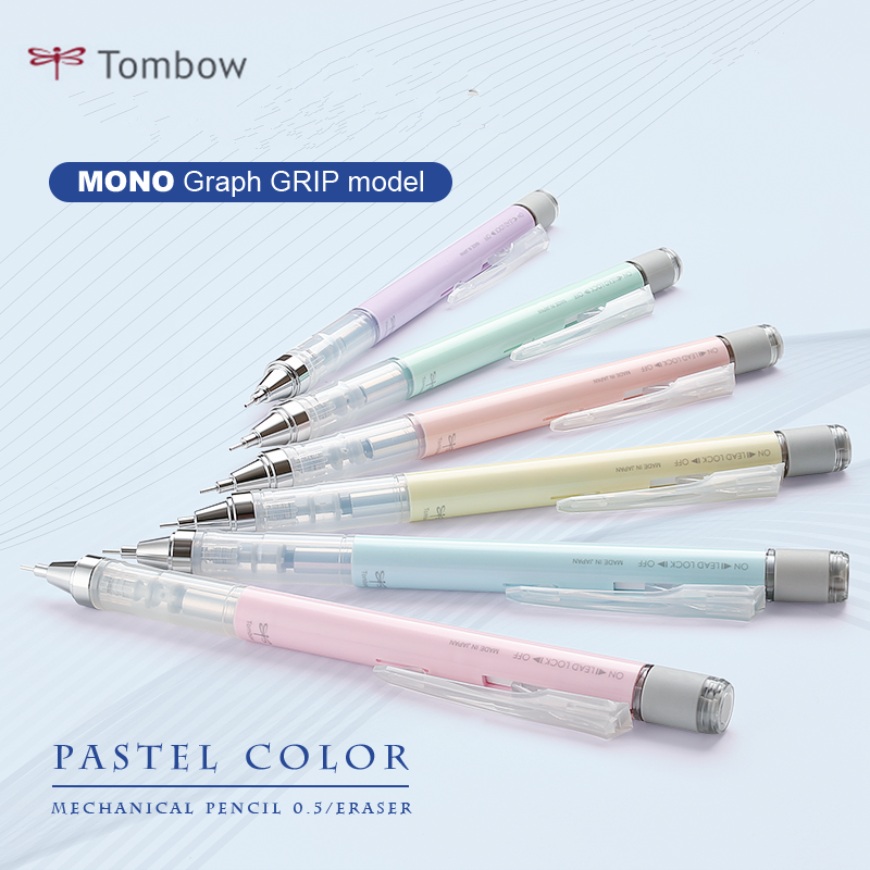 1pc TOMBOW MONO Graph Shake Out Lead Mechanical Pencil 0.5mm Cute Creative Modeling Student Stationery DPA-132 Neon/Pastel Color