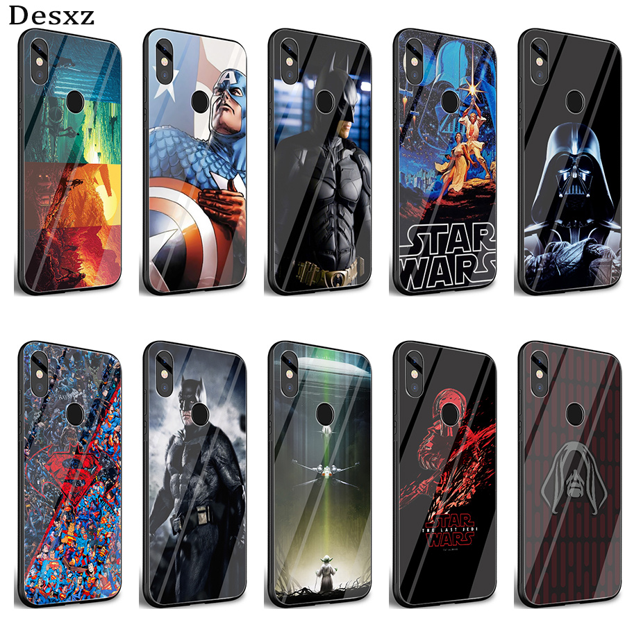 Desxz <font><b>Star</b></font> <font><b>War</b></font> Deadpool Ameircan Superhero Glass Case For <font><b>Xiaomi</b></font> Mi 8 Lite 9 A1 A2 <font><b>Redmi</b></font> <font><b>Note</b></font> 5 <font><b>6</b></font> 7 <font><b>Pro</b></font> 6A 4X Pocophone F1 <font><b>Cover</b></font> image