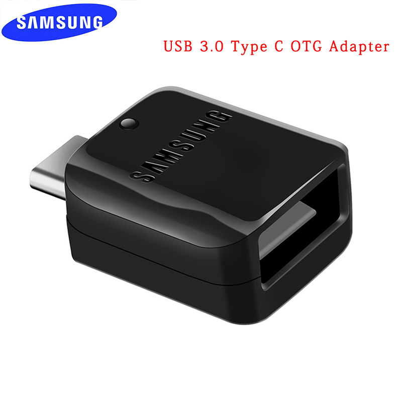 Original Note 8 9 OTG converter Adapter For Samsung Galaxy S7 S8 S9 plus USB Type C Genuine Data transfer adapter U DISK/SD Card image